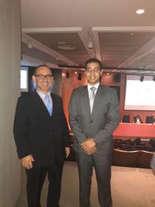 Na esquerda da foto Valtencir Gama e ao lado, Bruno Britto
