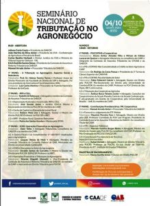 Folder Seminário Tributação Agronegócio